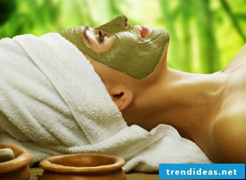 Quark mask against wrinkles Matcha tea