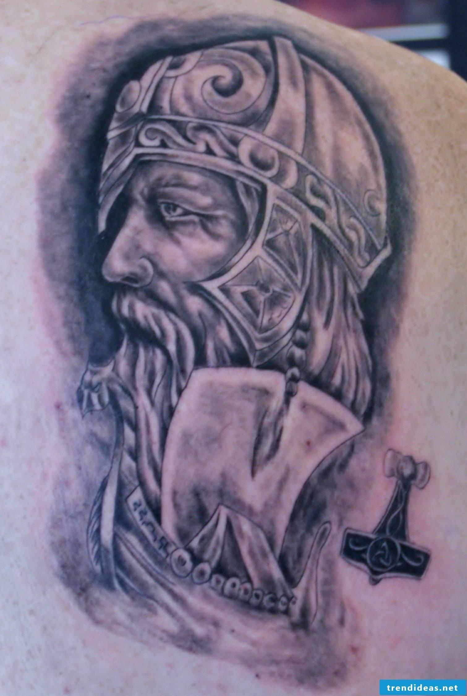Viking tattoo motifs - Odin