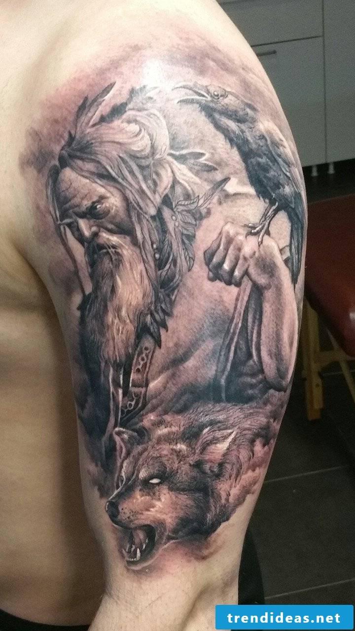 Odin from the Norse mythology
