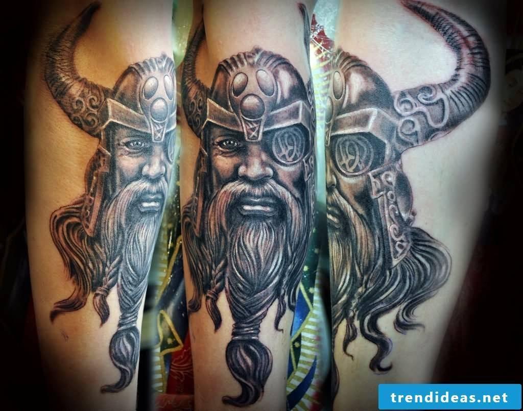 Odin - viking tattoo. the one-eyed god of Norse mythology