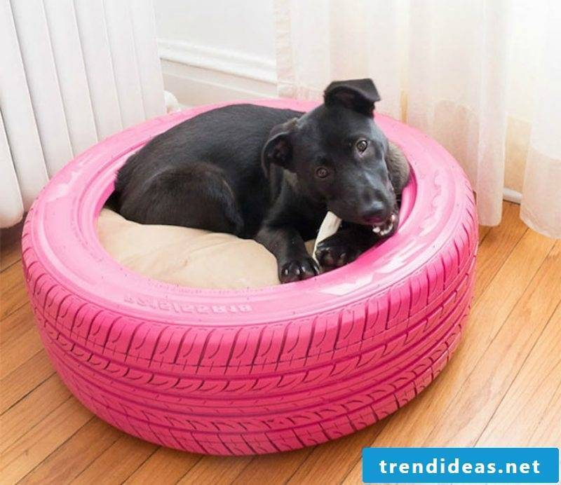 Bed of car tires for your dog!