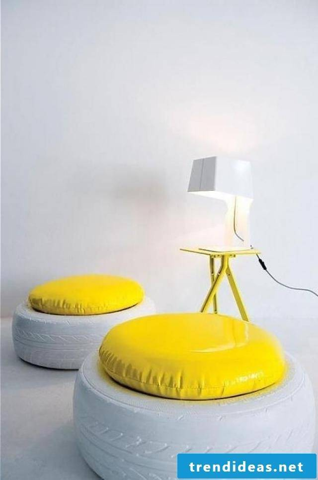 Furnishing ideas from car tires!
