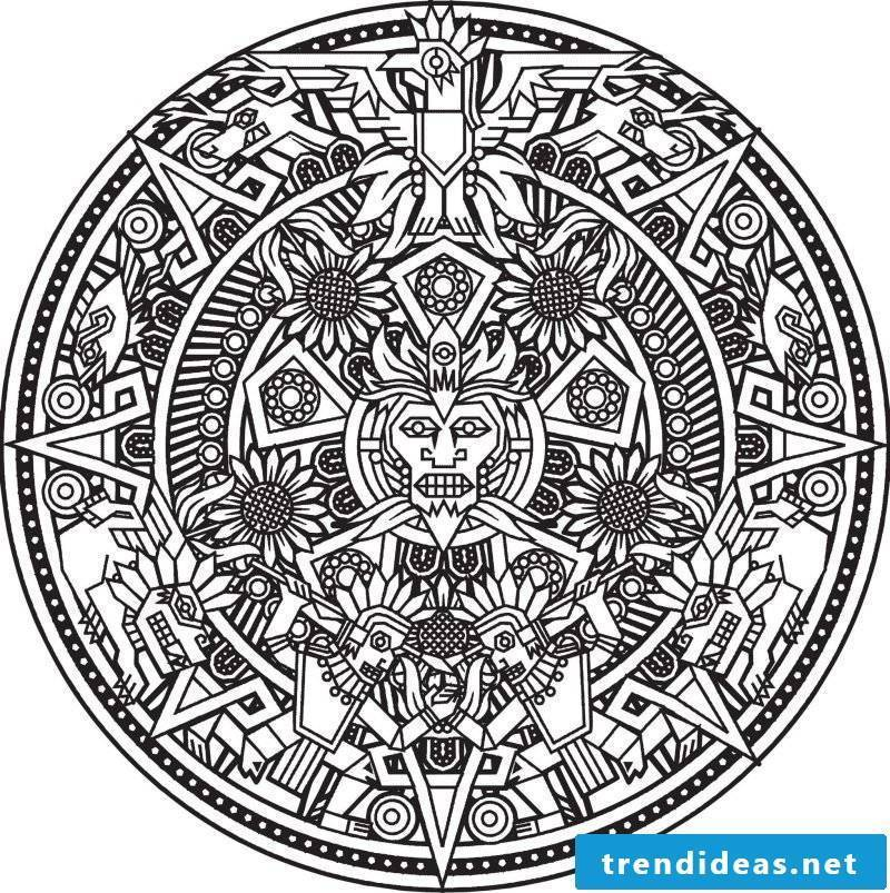 Mandala coloring pictures for free