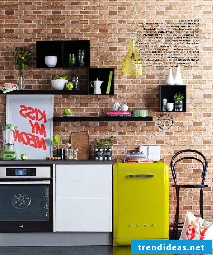 retro refrigerator bosch yellow