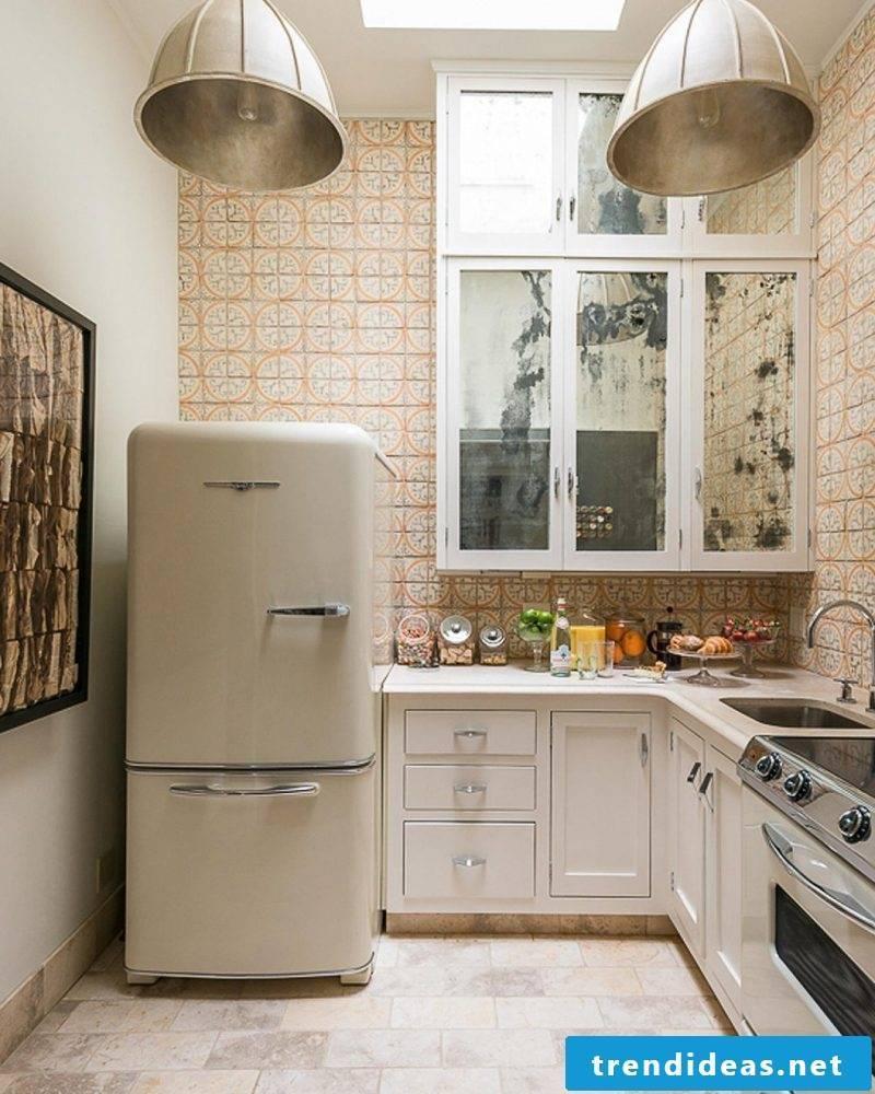 retro refrigerator bosch cream