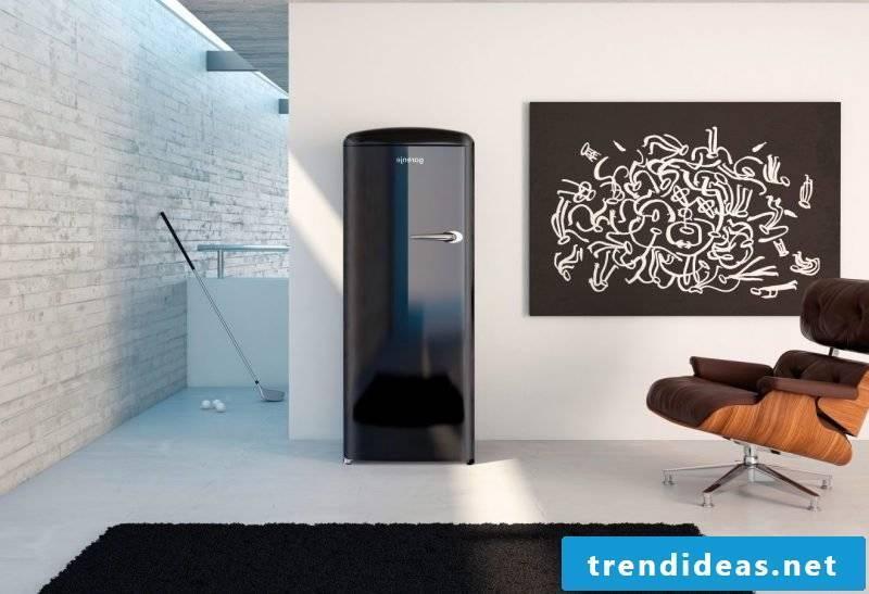 retro refrigerator bosch black