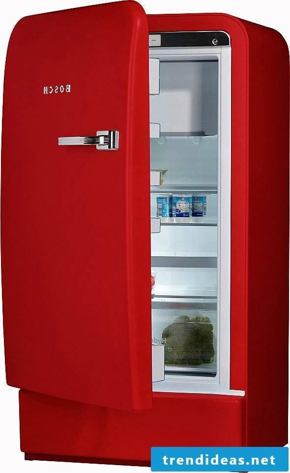 retro refrigerator bosch red