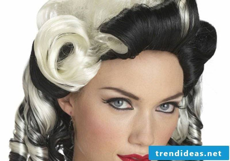 rockabilly hairstyles black and white drama