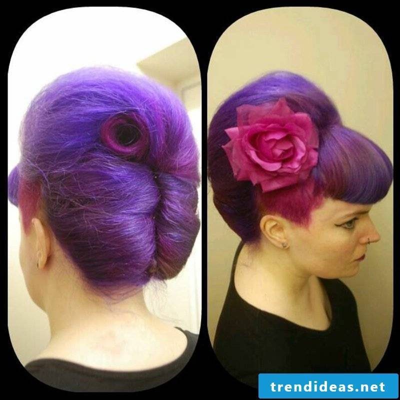 rockabilly-hairstyles-This french twist with Bettie bangs is wonderful