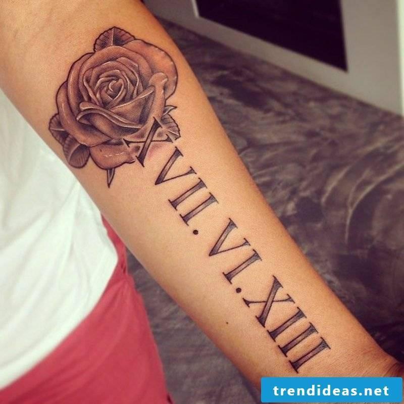 Roman numerals tattoo big Mrs. Rose