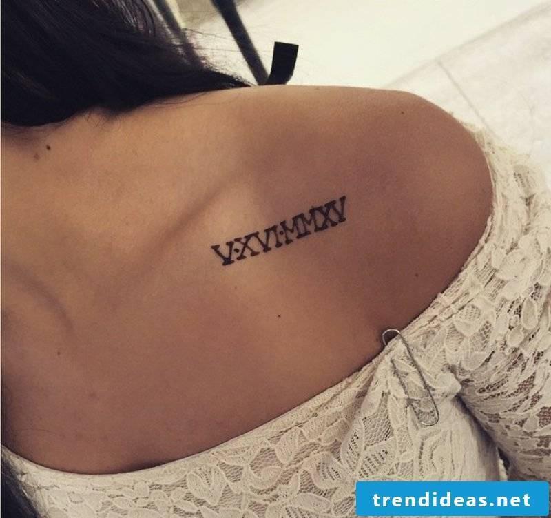 Roman numerals tattoo original ideas women