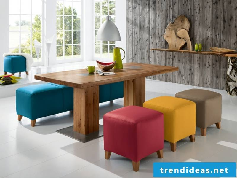 colorful colors in the dining room