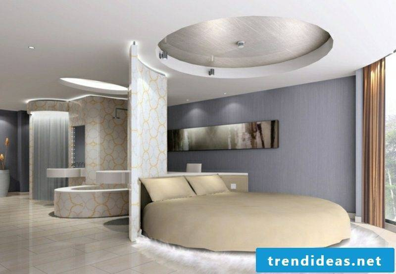 round bed bedroom modern partition