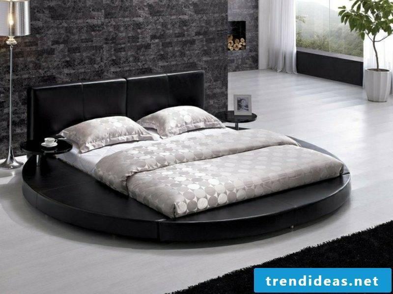 round bed rectangular mattress modern look