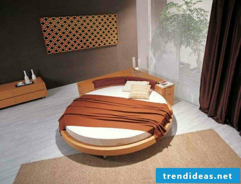 round bed practically with corner cupboard