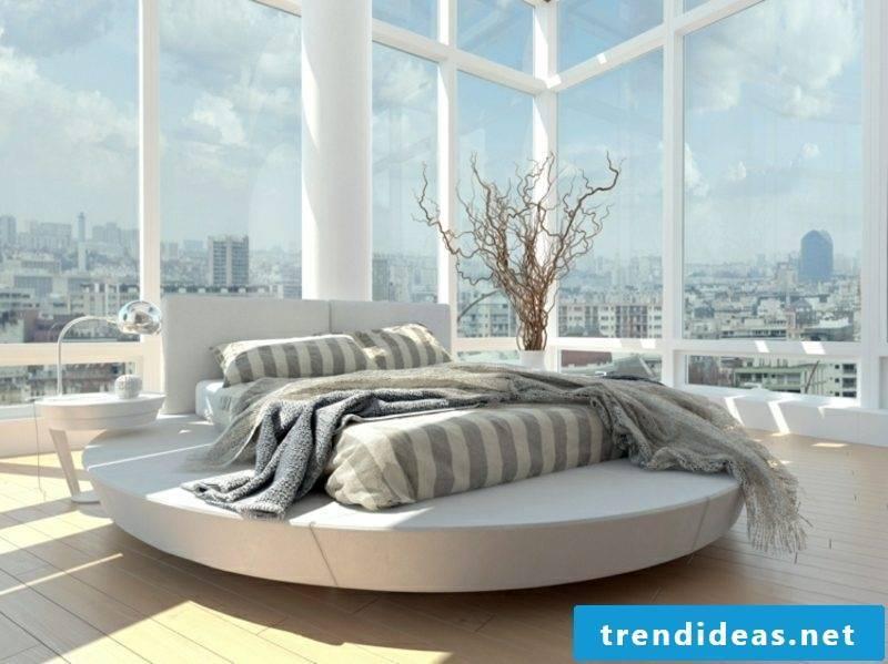 round bed mattress rectangular modern look
