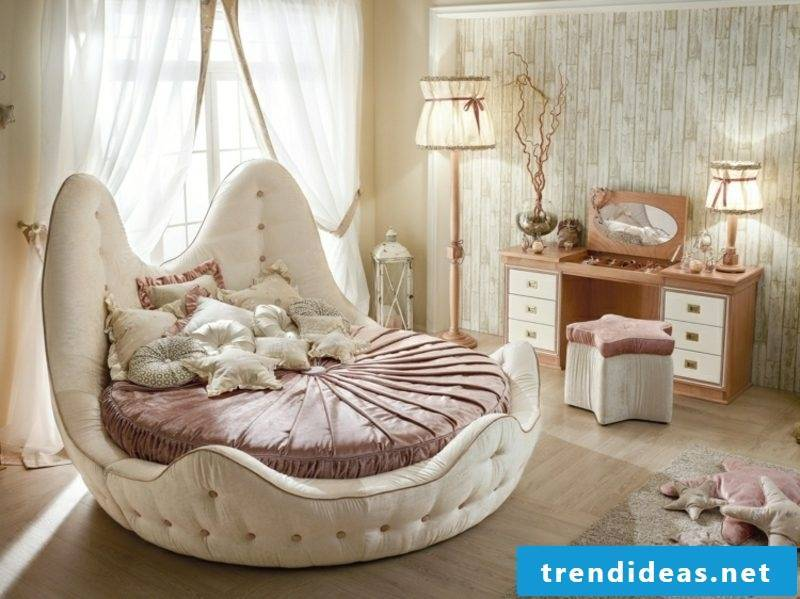 round bed in shell shape nursery