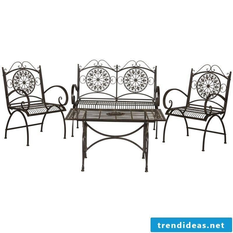 garden furniture rustic seating furniture iron brown garden design