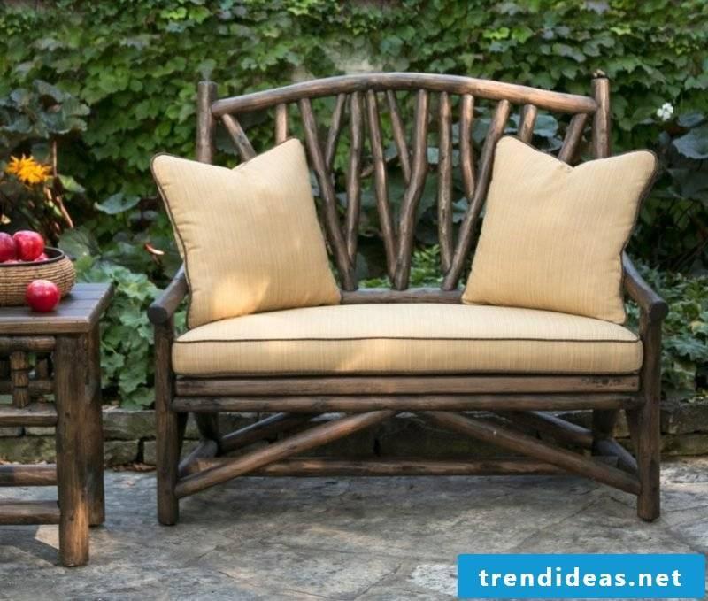 garden sofa rustic style furniture wood ideas garden design