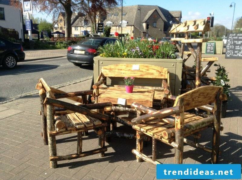 rustic outdoor furniture design table chair wood outdoor furniture ideas