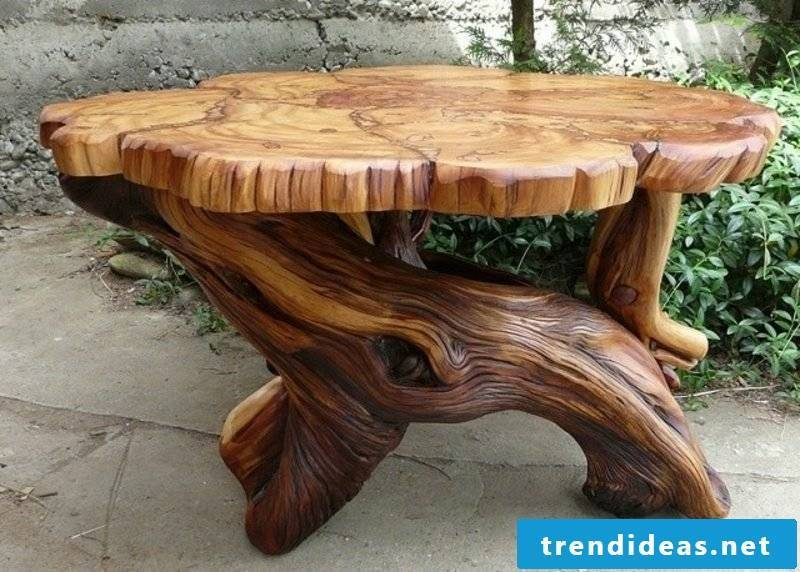 rustic garden furniture table wood design garden design