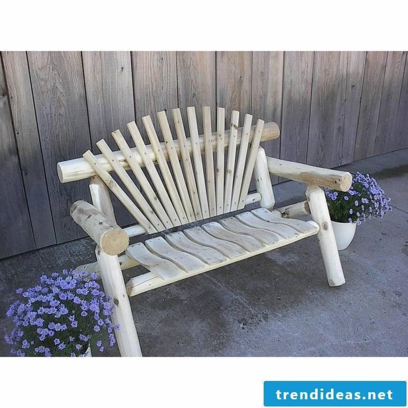 rustic garden furniture seating garden bench wood white gardening ideas