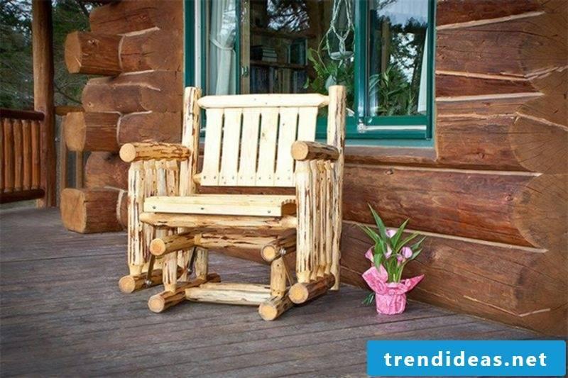 rustic garden furniture seating chair wood teak flowers garden design ideas
