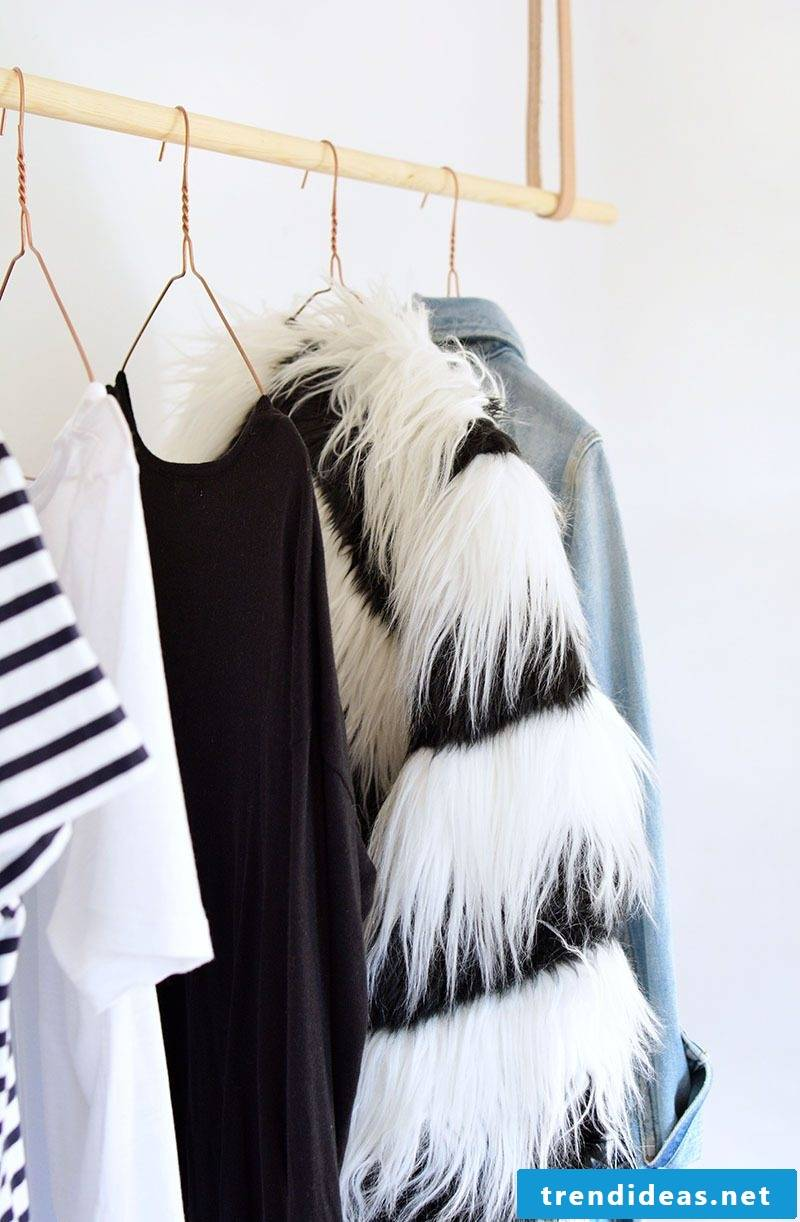 Clothes rail for wooden wall let you hang