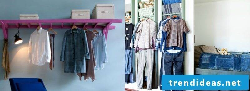 Creative ideas for clothes rail for the wall