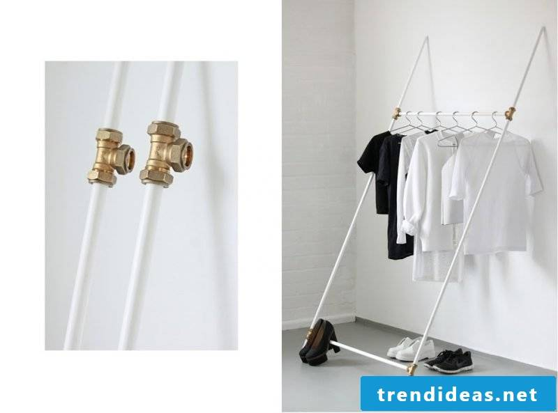 Clothes rail for the wall in a unique style