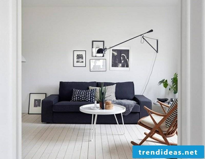 Scandinavian furniture living room rocking chair dark gray upholstered sofa