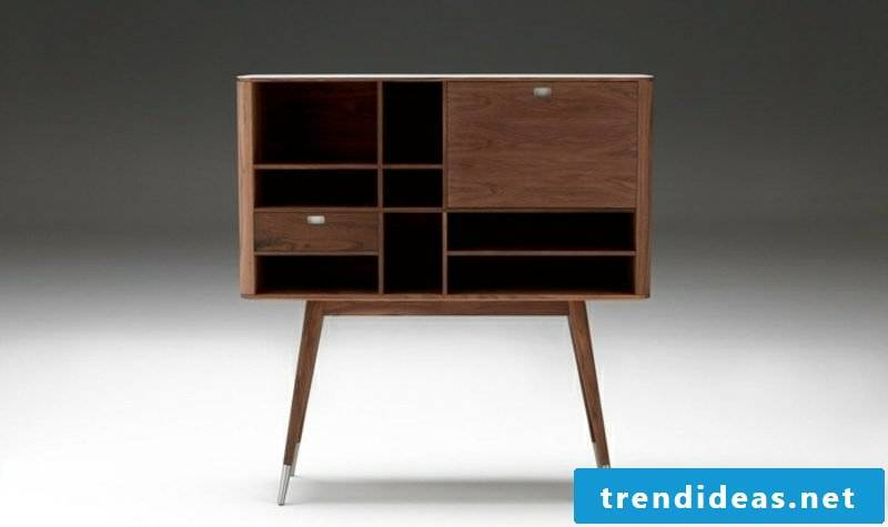 Scandinavian furniture sideboard with drawers solid wood