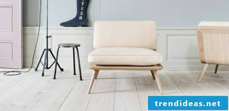 Scandinavian furniture upholstered wooden frame