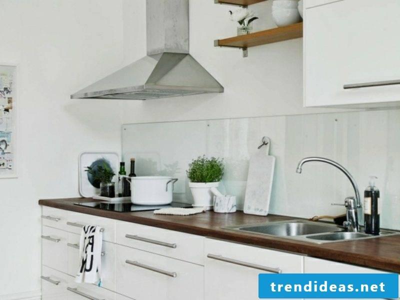 Scandinavian furniture kitchen in white modern look