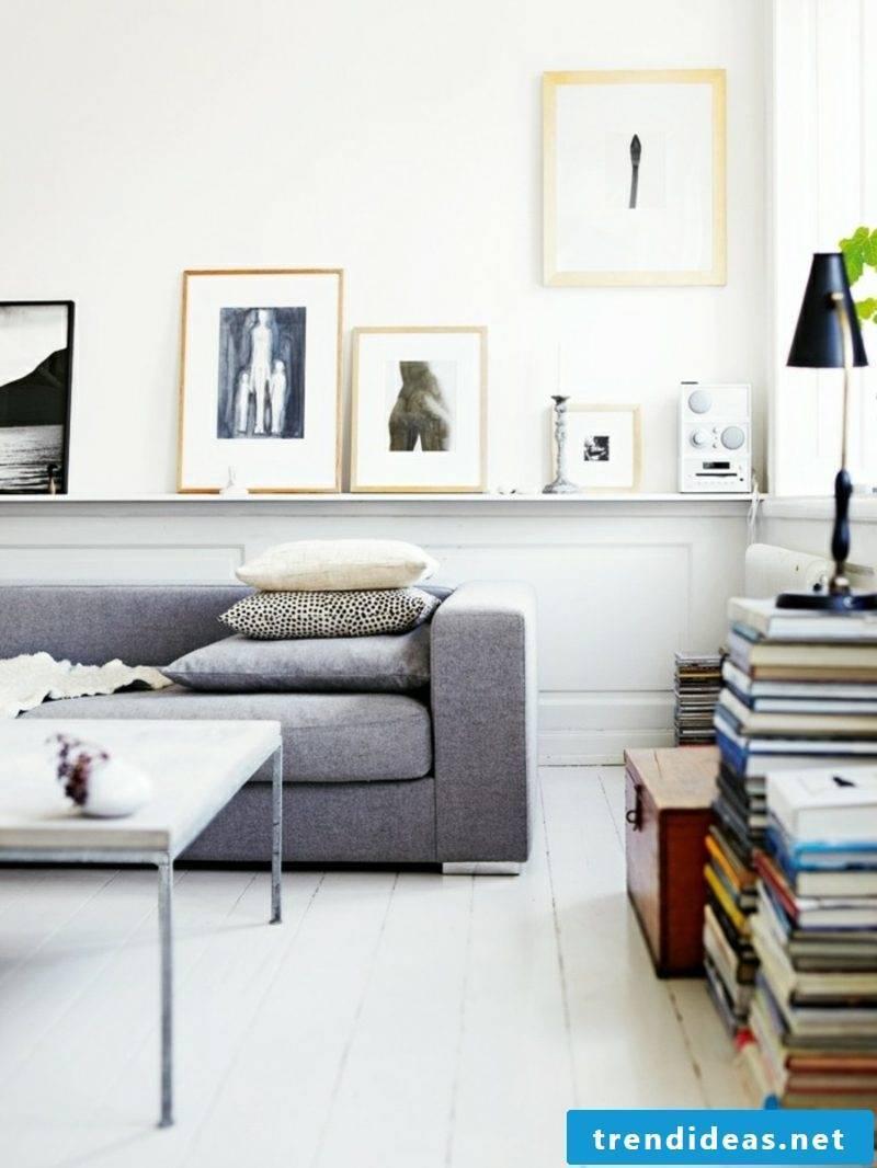 Scandinavian furniture gray upholstered sofa table metal photos