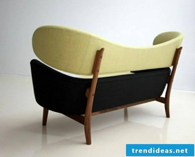 Scandinavian furniture original sofa cream and black