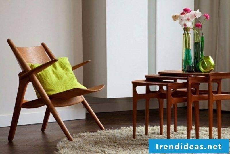 Scandinavian furniture original armchair made of solid wood
