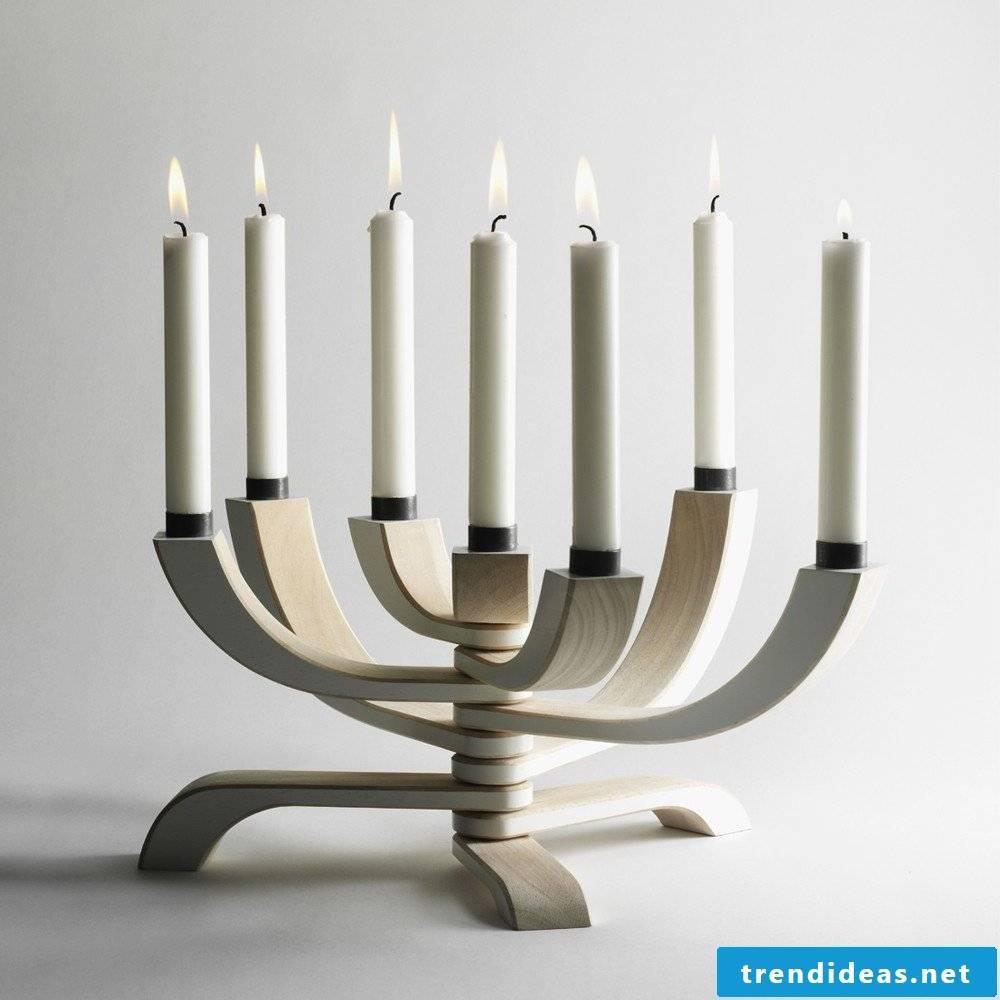 Candlestick designer art piece