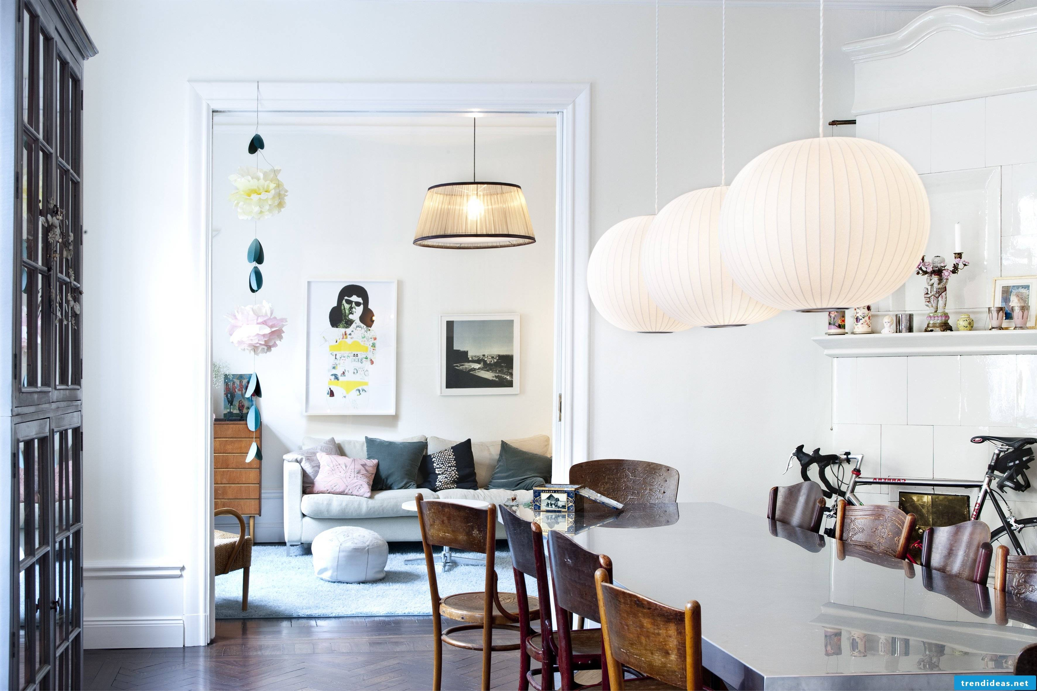 beautiful accents create dynamics in the room