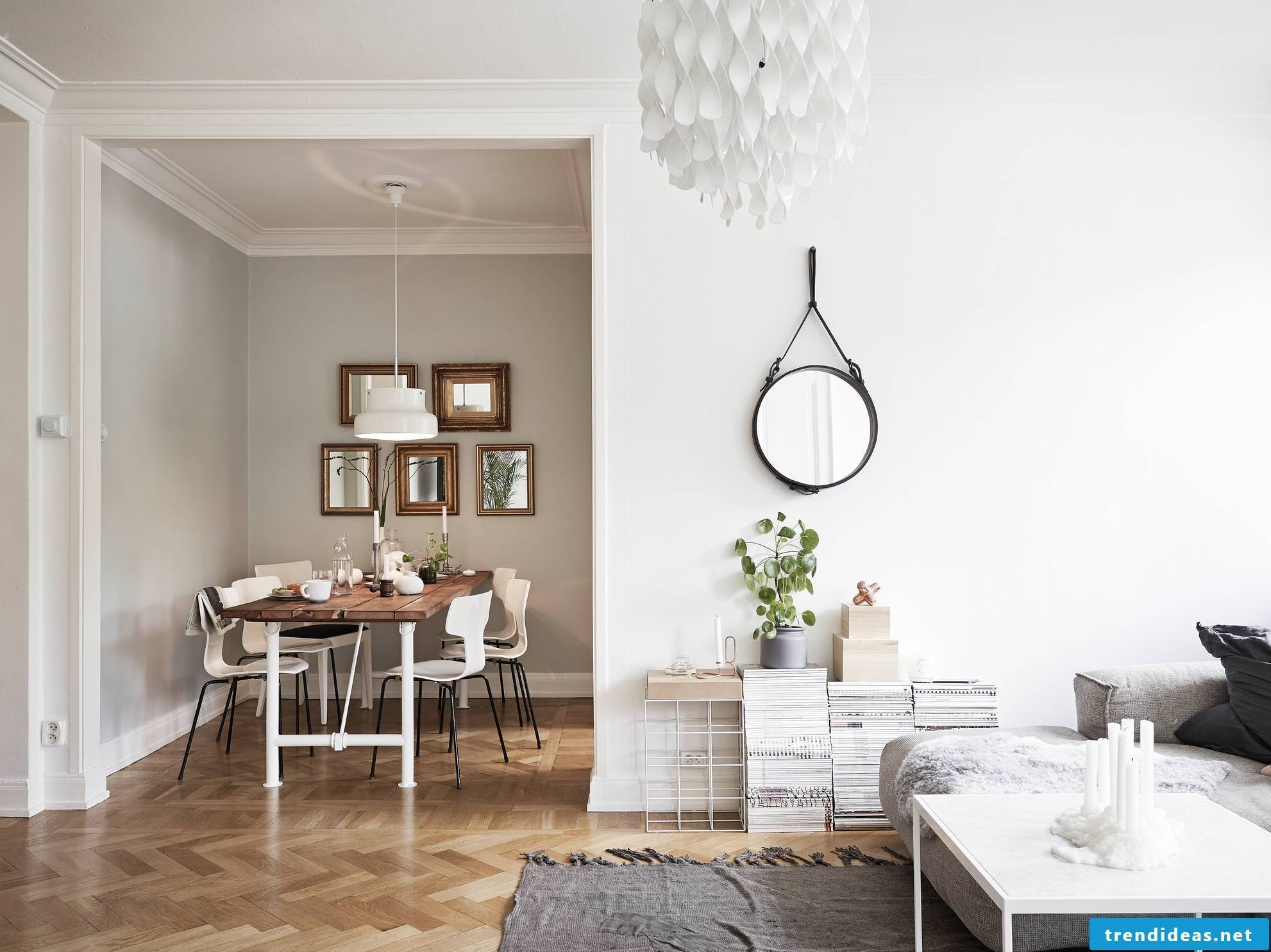 White with wood - the perfect combination