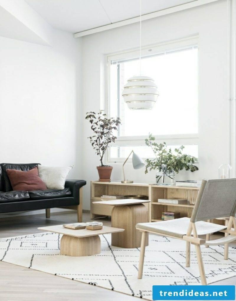 Scandinavian living wood leather