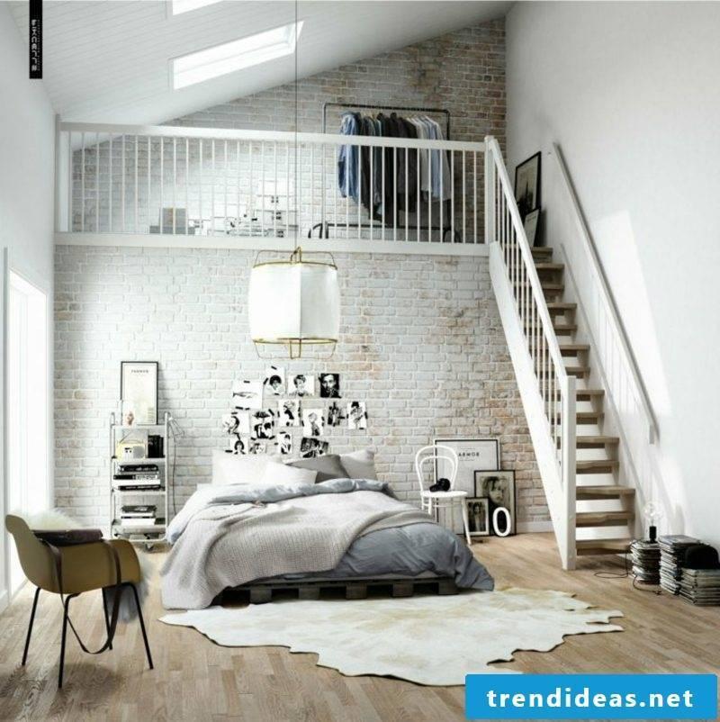 Scandinavian living bedroom pallets