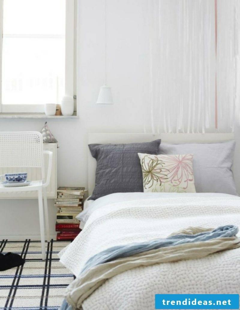 scandinavian living bed cushion gray nuances flowers chair
