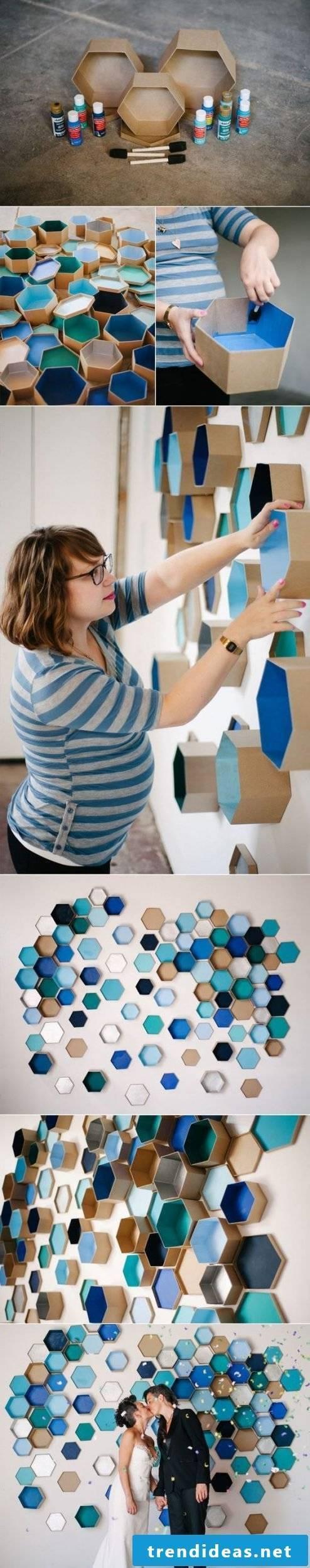 DIY geometric wall design