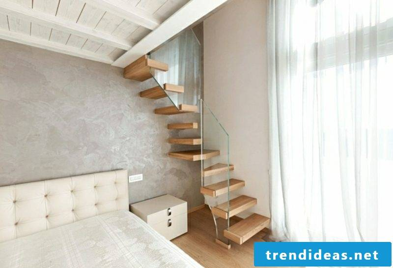 original cantilevered staircase bedroom