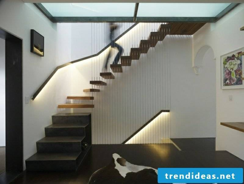 free-hanging staircase creative design ideas