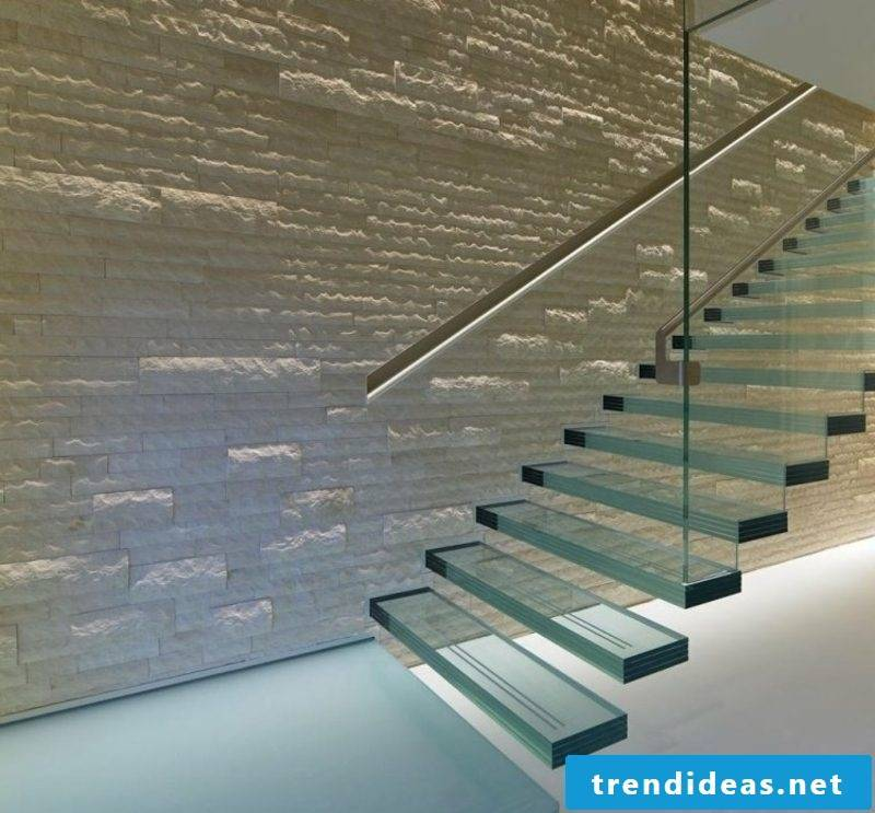 floating staircase glass steps