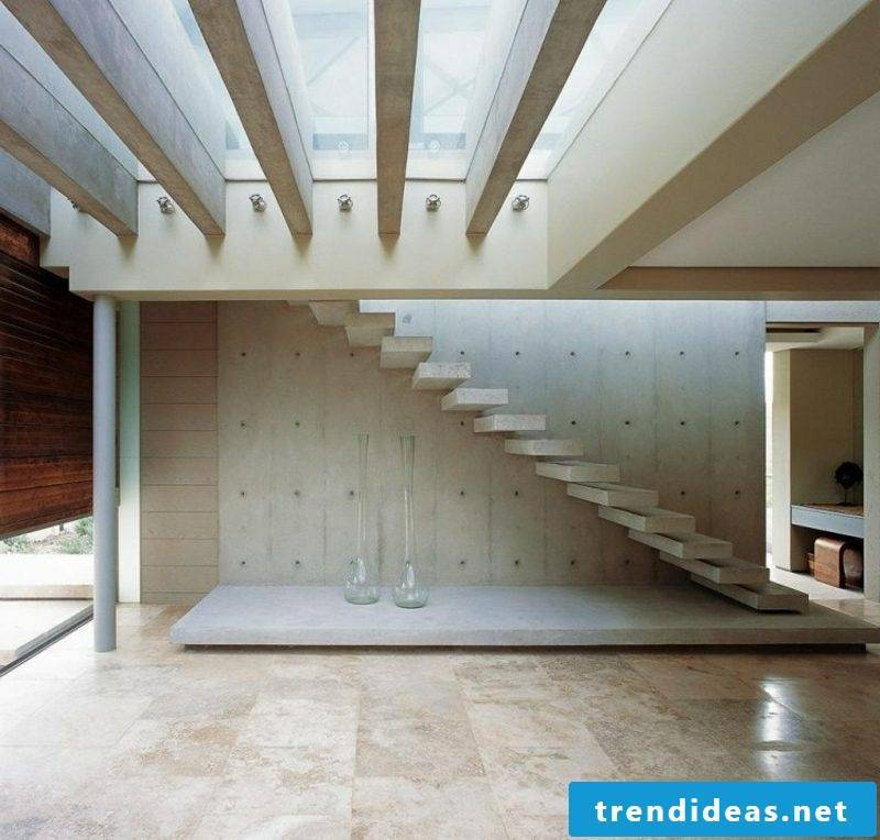 self-supporting concrete stairs