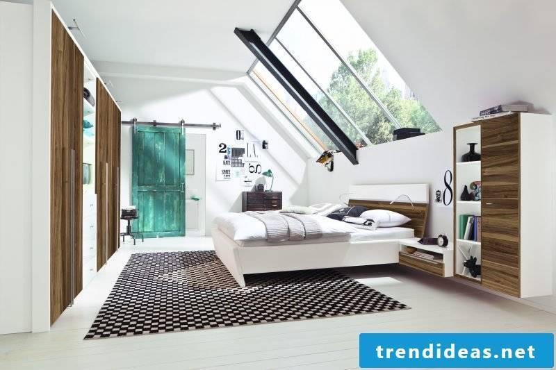 Bedroom with skylight