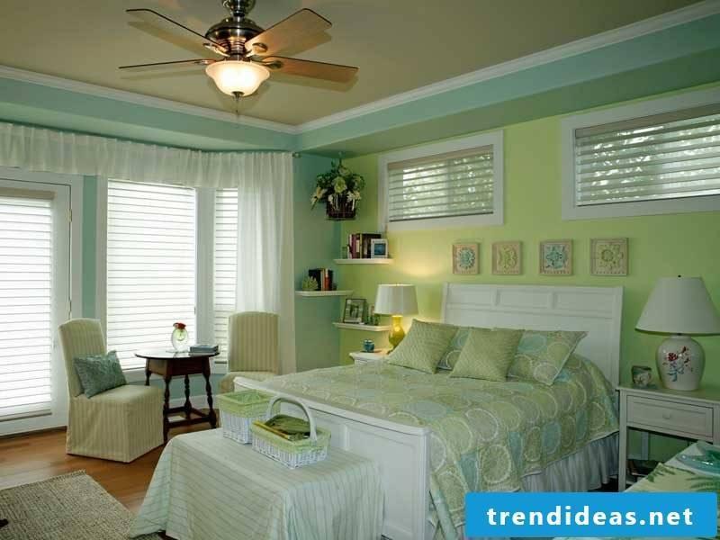 gentle wall colors Feng Shui bedroom